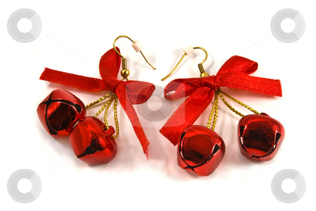 Christmas Earrings stock photo, Christmas Jingle Bell Earrings by Steve Carroll
