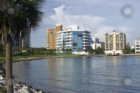 Waterfront Condos on Sarasota Bay stock photo, Waterfront Condos on Sarasota Bay by Steve Carroll