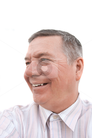Portrait of smiling senior male stock photo, Head shot of a smiling 57 year old man, Caucasian. by Steve Carroll