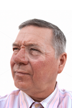Handsome white senior man thoughtfully looking off into the dist stock photo, Head shot of a 57 year old Caucasian man, thoughtfully looking off into the distance. by Steve Carroll