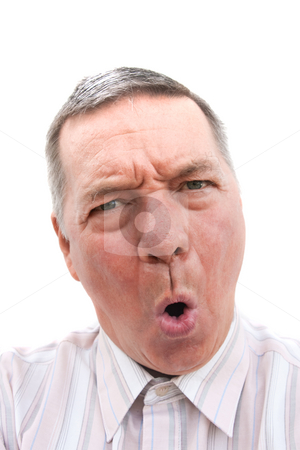 Portrait of senior man saying 'NO' stock photo, Head shot of a 57 year old man, Caucasian, saying