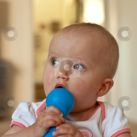 Cute Baby Girl stock photo, Portrait of cute little caucasian baby girl. by Mariusz Jurgielewicz