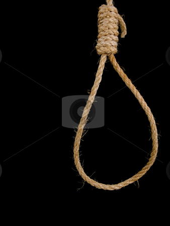 Noose hanging stock photo, Vertical shot of a rope noose hanging by John Teeter