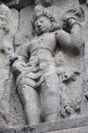 Prambanan Carving stock photo, Carved relief at Prambanan temple, Java, Indonesia by Daniel Rosner