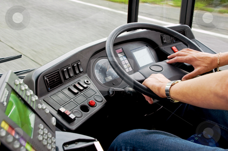Bus Driving stock photo,  by Robert Ford