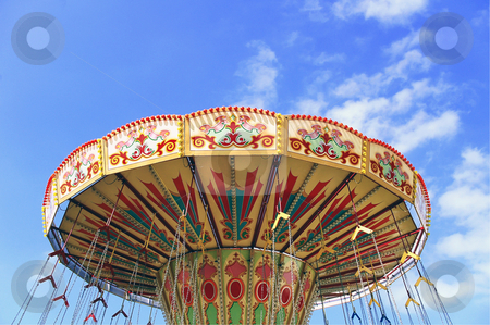 Carnival Swings stock photo, Top of Carnival Swings at a Fairground by Robert Ford