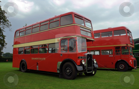 Bristol Half Cab stock photo, Thames Valley half cab restored bus at Alton bus rally by Robert Ford