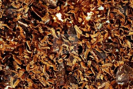 Grated chocolate stock photo, Grated chocolate on tiramisu cake by Juraj Kovacik