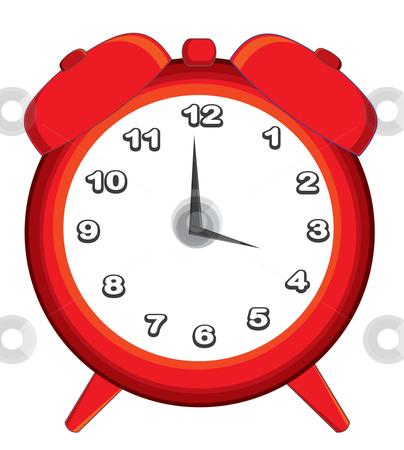 Alarm clock stock vector clipart, Red alarm clock by bloodsugar