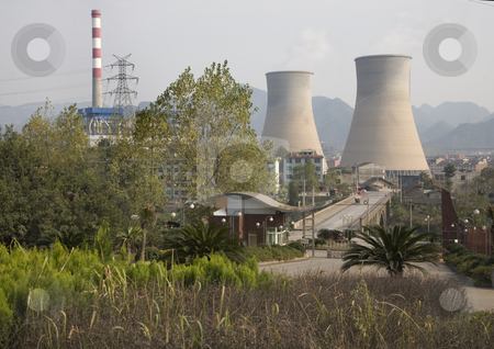Chinese Electricity Power Plant stock photo,  by William Perry