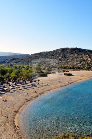Vai beach stock photo, Vai beach, on the far east end of Crete by Fernando Barozza