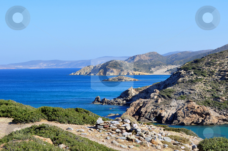 Fantastic view of the east coast of Crete stock photo, View of the Mediterranean Sea and east coast of Crete by Fernando Barozza