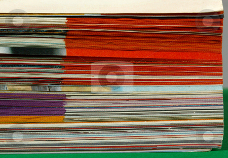 Popular magazine! stock photo, Color pages of old magazine on a white background. by Sergey Goruppa