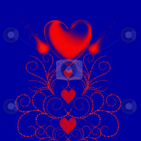 Valentine Illustration stock photo, Valentine Heart Illustration by Laura Smith