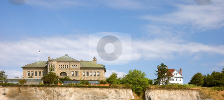 City Scape of Port Townsend Washington stock photo, This shot is a bluff of a city scape photo of Port Townsend Washington. by Valerie Garner