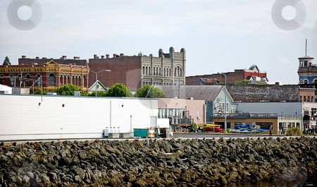 Cityscape of Port Townsend Washington stock photo, This cityscape is of beautiful historic Port Townsend Washington. by Valerie Garner
