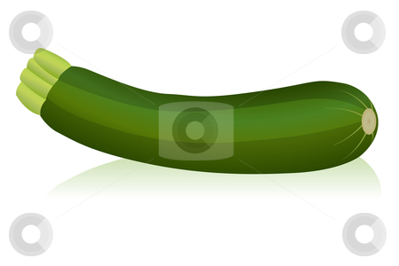 Zucchini stock vector clipart, Illustration of zucchini by Laurent Renault