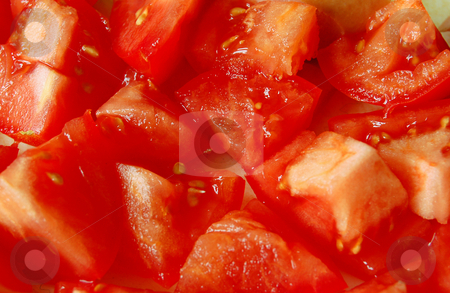 Tomato stock photo, Salad from cut tomatos by Pavel Cheiko