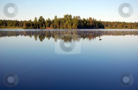Lake stock photo, Lake at sunny morning in Samuel de Champlain Park by Pavel Cheiko
