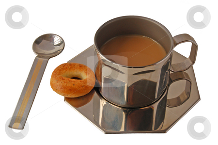 Coffee stock photo, Metal cup of coffe by Pavel Cheiko