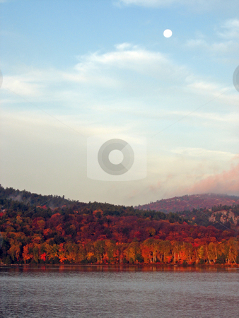 Morning stock photo, A fall morning in Killarney Provincial Park at George Lake by Pavel Cheiko