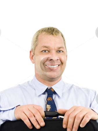 Happy Business Man stock photo, Happy business man on a white background by John Teeter