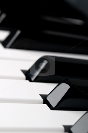 A shallow focus close up of piano keyboard  keys stock photo, A shallow focus close up of piano keyboard  keys by Vince Clements