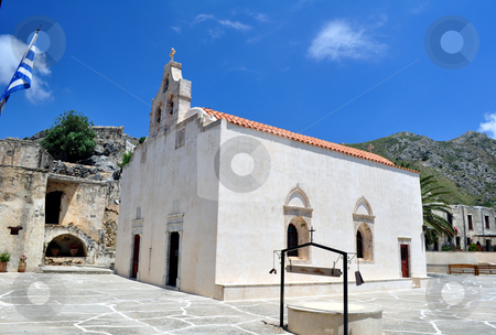 Preveli Monastery stock photo, Travel photography: The ancient Preveli Monastery in Southern Crete, Greece by Fernando Barozza