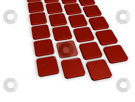 Red tiles background stock photo, Abstract background red tiles - 3d illustration by J?