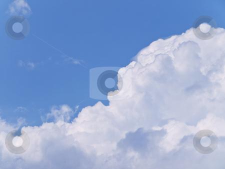 Cloudy sky stock photo, Blue cloudy sky by Sergej Razvodovskij