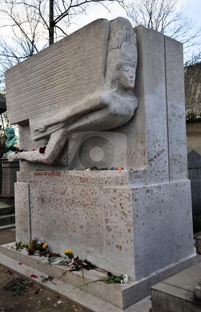 Oscar Wilde's grave stock photo, Oscar Wilde's grave in Pere Lachaise cemetery by Jaime Pharr