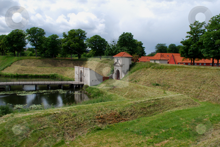 Kastellet Copenhagen stock photo, Kastellet from 1624, located in Copenhagen, Denmark is one of the best preserved fortifications in Northern Europe. by Koter