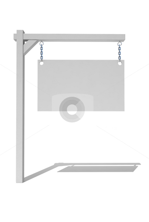 Real Estate sign stock photo, Empty real estate sign by Magnus Johansson