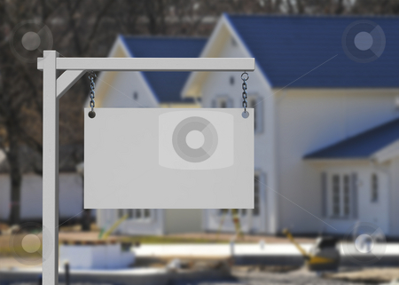 Real estate sign stock photo, Emty real estate sign your own design by Magnus Johansson
