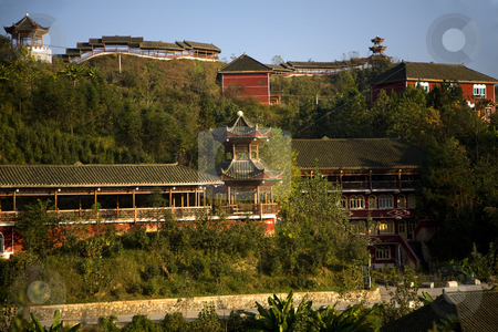 Old Chinese Restaurant Countryside Guizhou Province China stock photo, Old Chinese Restaurant Countryside Guizhou Province China by William Perry