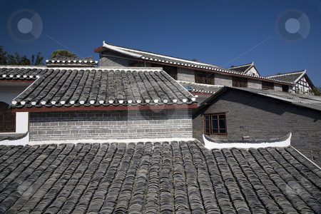 Roofs Ancient Town, Guiyang, Guizhou, China stock photo, Roofs Ancient Town Outside of Guiyang, Guizhou, China by William Perry