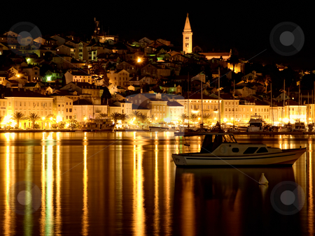 Island Losinj stock photo, Toned image of the largest city on the island of Losinj, Croatia. by Sinisa Botas