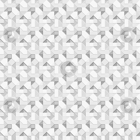Grey optical squares pattern stock photo, Seamless texture of grey to white squares and triangles giving optical illusion by Wino Evertz