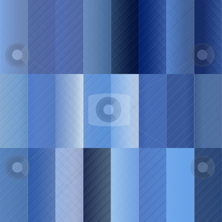 Blue rectangle pattern stock photo, Seamless texture of different blue textured square shapes by Wino Evertz