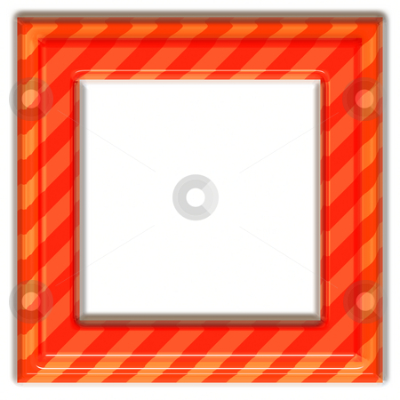 Square orange frame stock photo, 3d texture of glossy orange to red diagonal striped frame by Wino Evertz