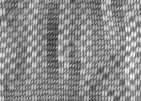 Grey knitting pattern stock photo, Texture of grey knitwork threads in 3d by Wino Evertz