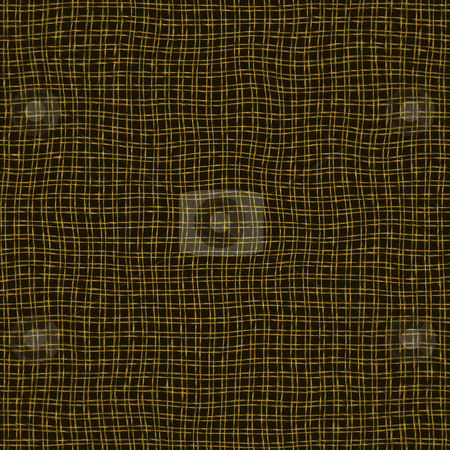 Grunge net canvas stock photo, Seamless texture of dirty waving gold threads on black background by Wino Evertz