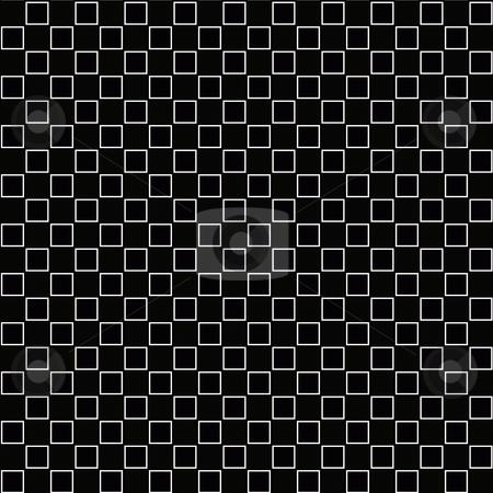 Squares pattern stock photo, Seamless textxture of regular white blocks on black background by Wino Evertz