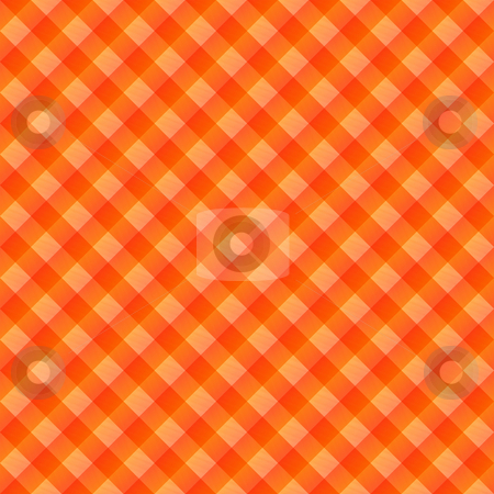 Orange table cloth stock photo, Seamless texture of orange to red blocked tartan cloth by Wino Evertz