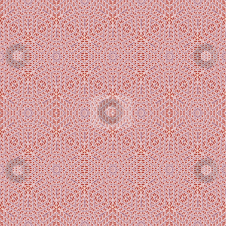 Red 3d structure stock photo, Seamless texture of imprinted classic ornamental shapes by Wino Evertz