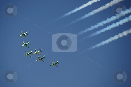 Aero show stock photo, Acrobatic Aero show in UAE by Roman Kalashnikov