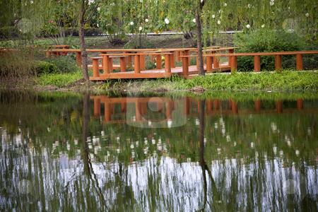 Weilaiyu Shanghai Suburbs Garden  stock photo, Weilaiyu Shanghai Suburbs Garden Water Reflections by William Perry
