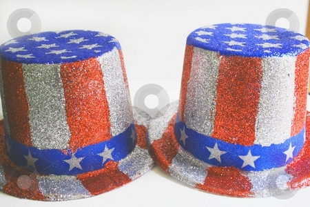 2 4th of july hats stock photo, 2 4th of july hats by Shirley Mathews