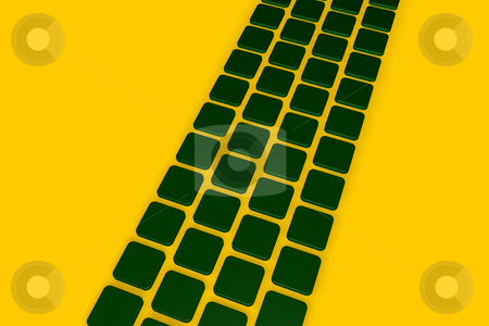 Green tiles stock photo, Abstract background green tiles - 3d illustration by J?