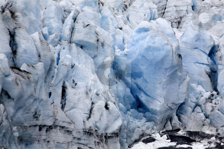 Blue Icy Portage Glacier Crevaces Alaska stock photo, Blue Icy Portage Glacier with Crevaces Anchorage Alaska  The blue ice means it is a glacier. by William Perry